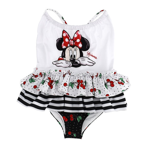 White & Black Minnie Mouse Swimsuit
