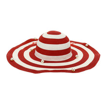 Load image into Gallery viewer, Red Stripe Sun Hat