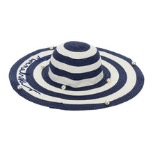 Load image into Gallery viewer, Navy Stripe Sun Hat