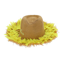 Load image into Gallery viewer, Straw & Yellow Petal Hat