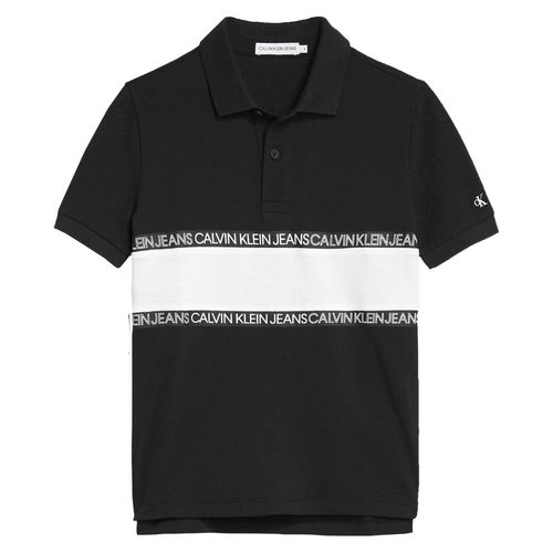 Black Colour Block Polo Shirt