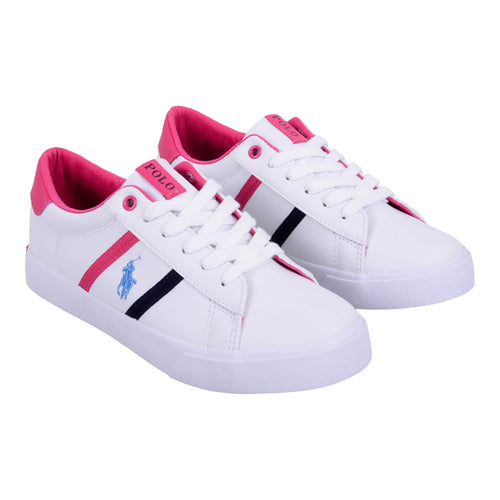 Ralph Lauren Sale White 'Geoff' Girls Lace Trainer