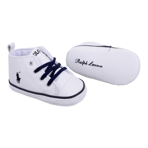 Ralph Lauren Baby Boys Sale Hamptyn' White High Top Trainer