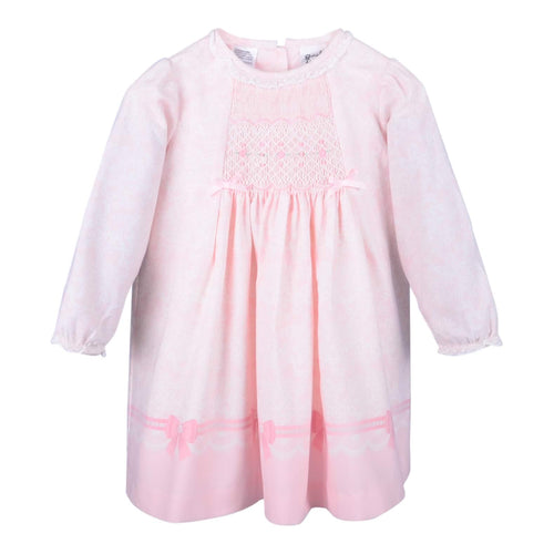 Pink Detailed Smocked Dress