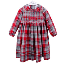 Load image into Gallery viewer, Red Check Smock Dress