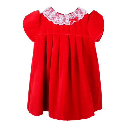 Red Velour Lace Dress