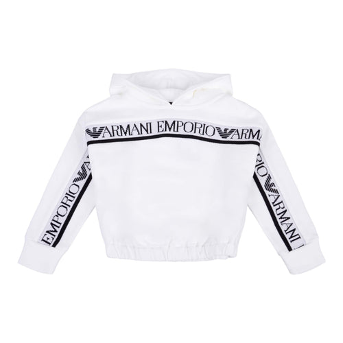 Emporio Armani Sale Girls White Cropped Hoodie
