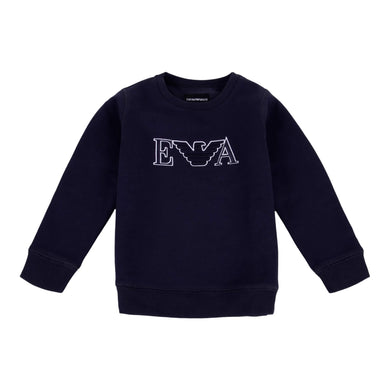 Emporio Armani Boys Sale Navy EA Sweat Top