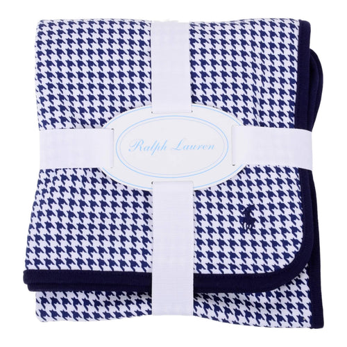 Navy Houndstooth Blanket