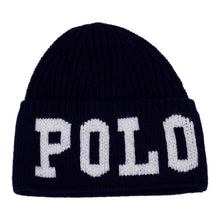 Load image into Gallery viewer, Navy Knitted Logo Hat