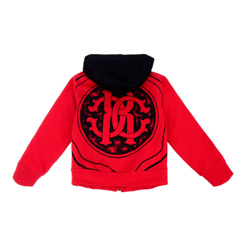 Red Zip Up Sweat Top