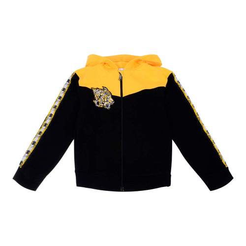 Black & Yellow Zip Up Hoodie