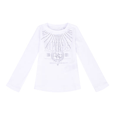 White Diamante Guess Top