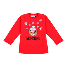 Load image into Gallery viewer, Moschino Baby Boys Sale Red Toy Snowflake Top