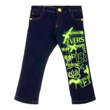 Load image into Gallery viewer, Young Versace Baby Boys Sale Denim Spray Paint Jeans