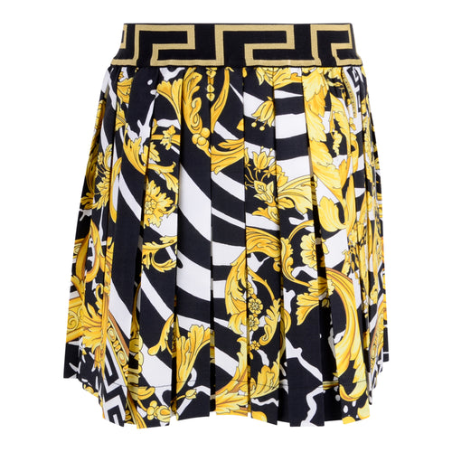 Gold Pleated Baroque Skirt