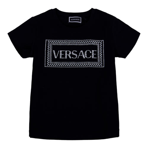 Black Young Versace Embellished T-shirt