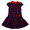 Red & Blue Tartan Dress