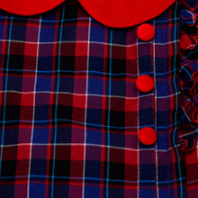 Load image into Gallery viewer, Red & Blue Tartan Dress
