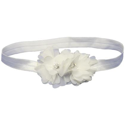 White Enchanted Bloom Headband