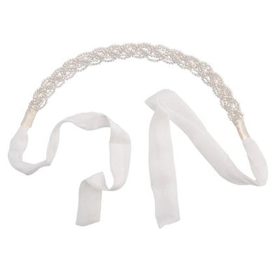 Ivory Plaited Crystal Headband