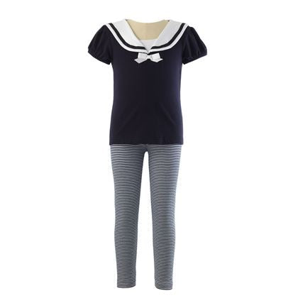 Navy Sailor T-Shirt & Legging Set