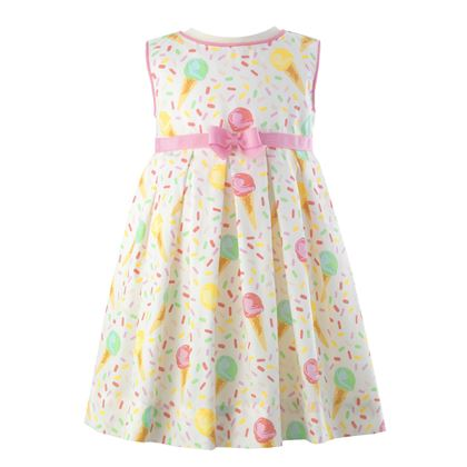 White Ice Cream Dress & Bloomers