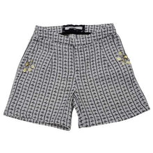 Load image into Gallery viewer, Black & White Tweed Shorts