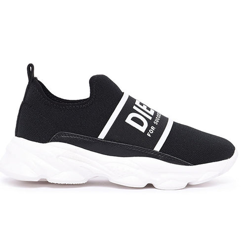 Black Diesel Low Sock Trainer