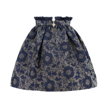 Load image into Gallery viewer, Navy & Gold 'Bridge' Skirt