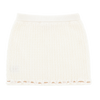 Ivory 'Chantel' Knitted Skirt