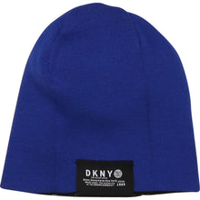 Load image into Gallery viewer, Black & Blue Reversible Beanie
