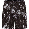 Black Marble Sweat Shorts