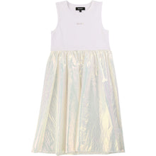 Load image into Gallery viewer, White Iridescent 2 in 1 Dress