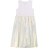White Iridescent 2 in 1 Dress