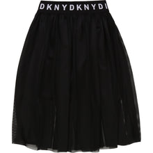 Load image into Gallery viewer, Black Mesh A-Line Skirt