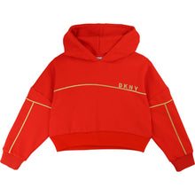 Load image into Gallery viewer, Red Cropped Logo Hoodie