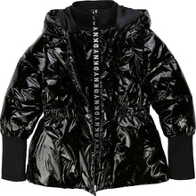 Load image into Gallery viewer, Black Wet Look Jacket