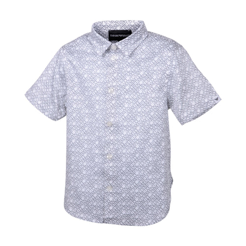White Multi Logo Shirt