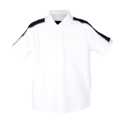 White Embossed Polo Shirt