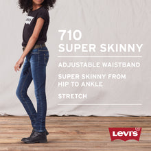Load image into Gallery viewer, Girls Denim 710 Super Skinny Jeans