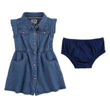 Load image into Gallery viewer, Blue Chambray Dress & Knickers