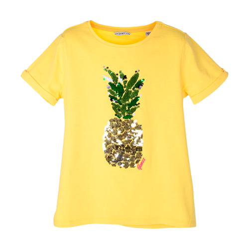 Yellow Pineapple Sequin T-Shirt