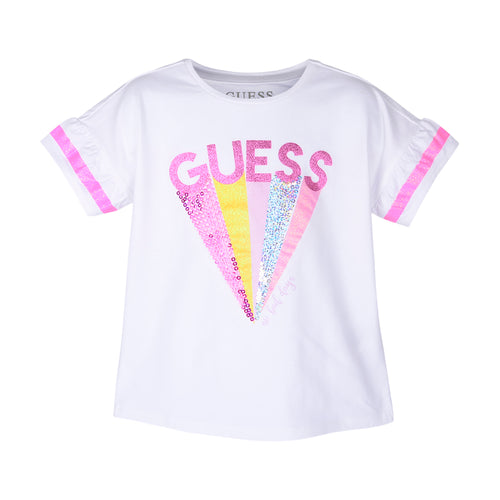 White Guess Sequin T-Shirt