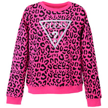 Load image into Gallery viewer, Pink Leopard Print Sweat Top