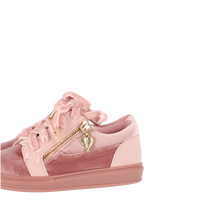 Load image into Gallery viewer, Pink 'Giselle' Velvet Trainer