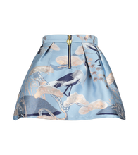 Load image into Gallery viewer, Blue 'Heron' Jacquard Skirt