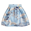 Blue 'Heron' Jacquard Skirt