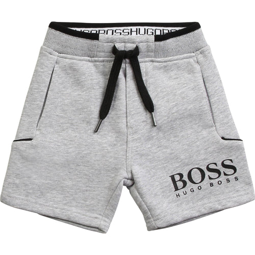 Grey Logo Sweat Shorts