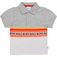Load image into Gallery viewer, Grey & White Polo Shirt